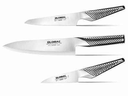 Global Набор ножей Global, 3 пр. набор ножей global yoshikin 3 предмета цвет серебристый черный g 21524