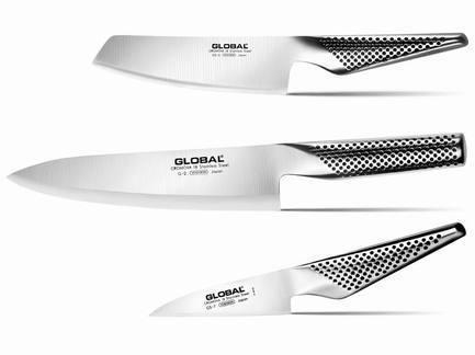 Global Набор ножей Global, 3 пр. global нож поварской с точилой global 2 пр