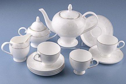 Royal Aurel Чайный сервиз Белый лотос на 6 персон, 15 пр.