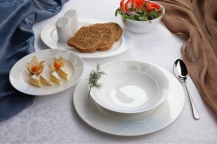 Royal Aurel Столовый сервиз Лазурь на 6 персон, 27 пр. 433r Royal Aurel royal bone china сервиз столовый файналей на 6 персон 27 пр 8998 27001 royal bone china