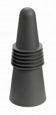 Пробка для бутылки, 4х4х7 см, черная