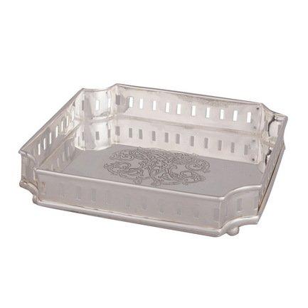 Eichholtz Поднос, 17,5x17,5x4 см, серебряный 8893 Eichholtz недорго, оригинальная цена