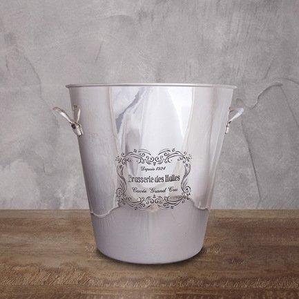 Eichholtz Ведро для льда, 23x15x13см, серебряное PI 5077/S Eichholtz eichholtz ведро для льда 30x22x24 см серебряное pi 5351 silver eichholtz