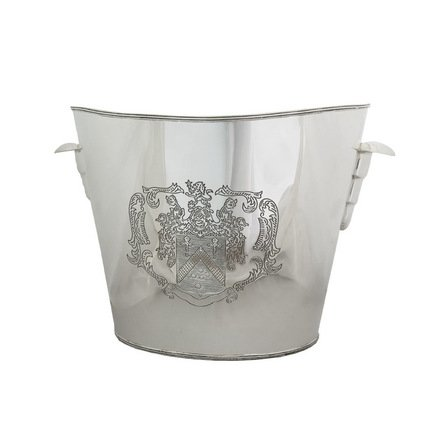 Eichholtz Ведро для льда, 30x22x24 см, серебряное PI 5351/SILVER Eichholtz eichholtz изогнутый торшер eichholtz floor lamp medea 108082
