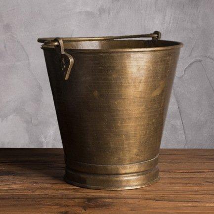 Ведро декоративное, 30 см, бронза A014 Roomers