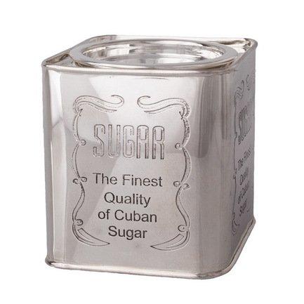 Roomers Емкость для сахара, 10х10х12 см, серебряная 9626 SUGAR Roomers