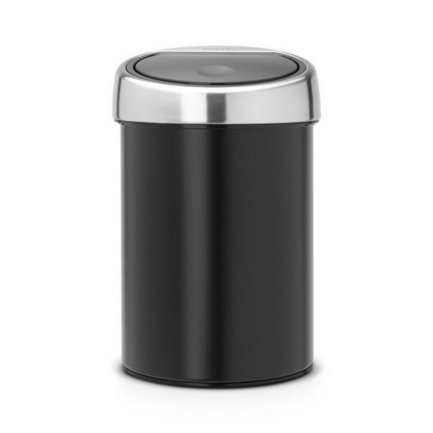 Brabantia Ведро для мусора Touch Bin (3 л), черное 364440 Brabantia original new 10 1 inch resistive touch screen four wire industrial 4 touch single chip 233 141