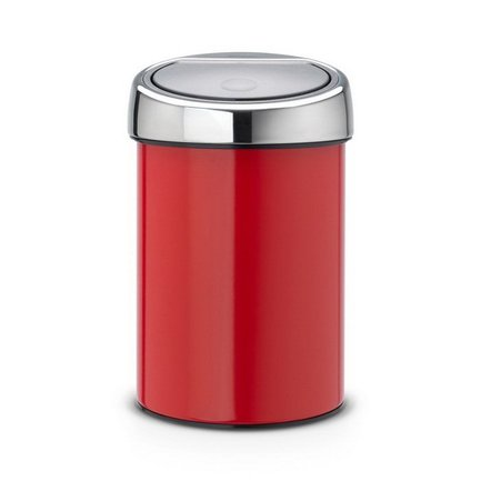 Brabantia Ведро для мусора Touch Bin (3 л), красное 364426 Brabantia bin feng page 3