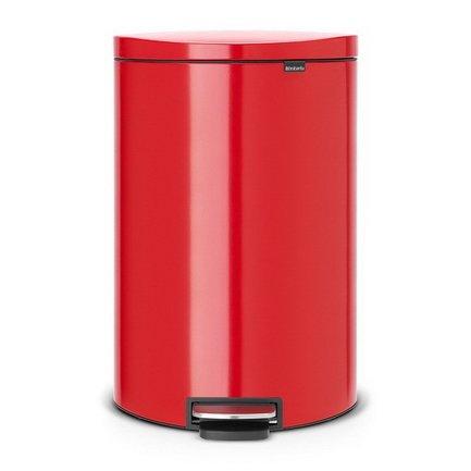 Brabantia Мусорный бак с педалью FB (40 л), красный 485220 Brabantia brabantia мусорный бак flipbin 30 л белый