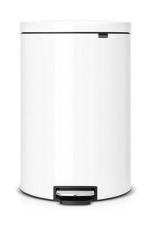 Brabantia Мусорный бак с педалью FB (40 л), белый 485244 Brabantia