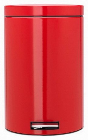 Brabantia Мусорный бак с педалью (20 л), красный 106026 Brabantia бак мусорный idea цвет зеленый 60 л м 2393