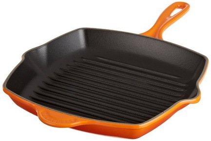 Le Creuset Сковорода-гриль квадратная, 26 см, оранжевая