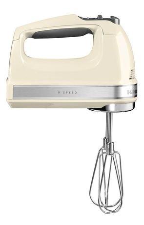 KitchenAid Миксер ручной, 230-1300 об/мин, 9 скоростей, кремовый 5KHM9212EAC