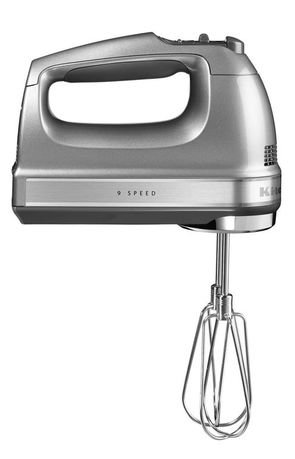 KitchenAid Миксер ручной, 230-1300 об/мин, 9 скоростей, серебристый 5KHM9212ECU