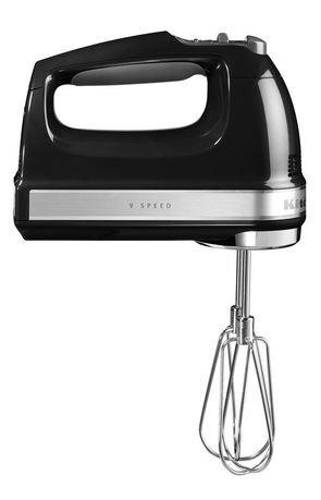 KitchenAid Миксер ручной, 230-1300 об/мин, 9 скоростей, черный 5KHM9212EOB