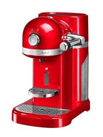 KitchenAid Кофемашина капсульная Artisan Nespresso с баком (1.4 л), красная кофемашина jura a9 aluminium 15118 1450вт 15бар автокапуч