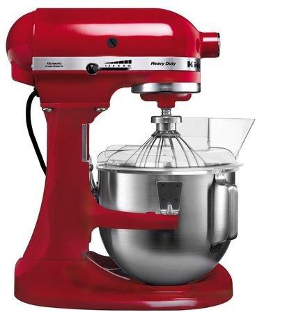 KitchenAid Миксер планетарный профессиональный, дежа (4.8 л), 3 насадки, красный