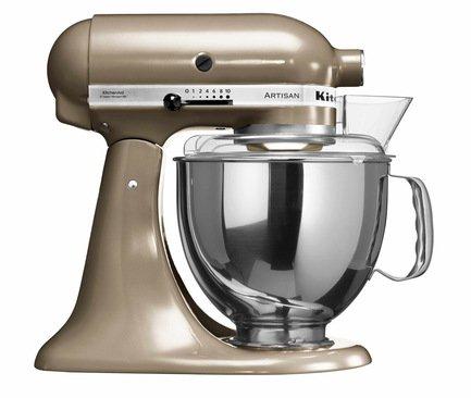 KitchenAid Миксер Artisan полупрофессиональный, дежа (4.83 л), 3 насадки, золотистый нектар 5KSM150PSECZ