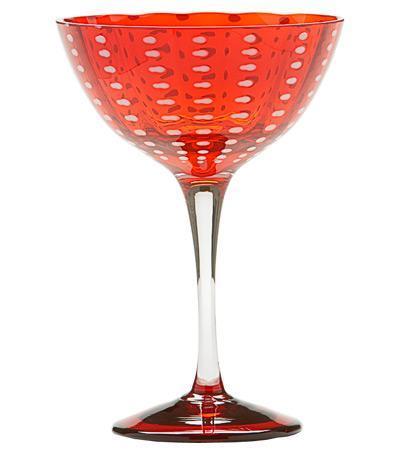 Бокал для коктейлей Перле (230 мл), красный PR00411H Zafferano бокал для коктейлей перле 230 мл синий pr00407h zafferano