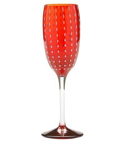 Бокал для шампанского Перле (220 мл), красный PR00511H Zafferano