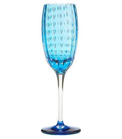 Бокал для шампанского Перле (220 мл), аквамарин PR00503H Zafferano