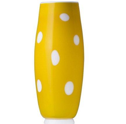 Zafferano Ваза Бон Бон, 26х11 см, жёлто-белая BB01108H
