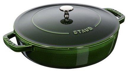 Фото - Staub Сотейник чистера с чугунной крышкой (2.4 л), 24 см, базилик 12612485 Staub staub форма прямоугольная керамическая 2 4 л 27х20см зеленая 40510 811 staub