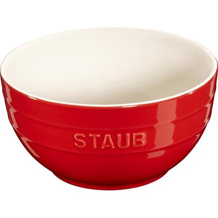 Staub Миска большая (1.2 л), 17 см, вишневая 40510-791 Staub трикси миска керамическая кошка 0 25 л ф 13 см белая