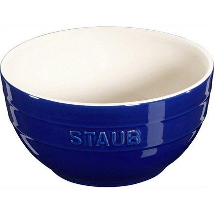 Staub Миска большая (1.2 л), 17 см, темно-синяя 40510-792 Staub трикси миска керамическая кошка 0 25 л ф 13 см белая