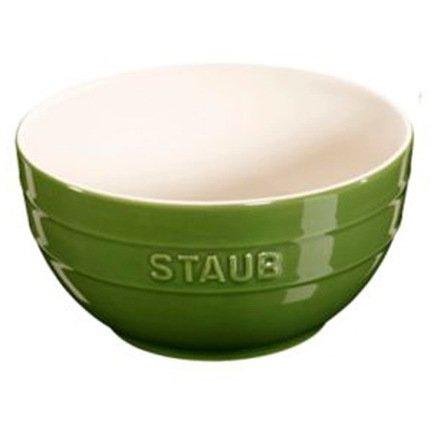 Фото - Staub Миска большая (1.2 л), 17 см, зеленый базилик 40510-793 Staub staub форма прямоугольная керамическая 2 4 л 27х20см зеленая 40510 811 staub