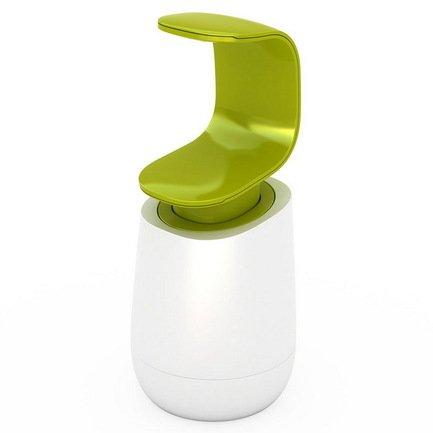 Диспенсер для мыла C-Pump (0.3 л), 19х8.5 см, бело-зеленый от Superposuda