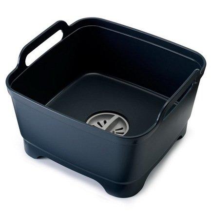 Контейнер для мытья посуды Wash&Drain, 31х30х20 см, серый 85056 Joseph &