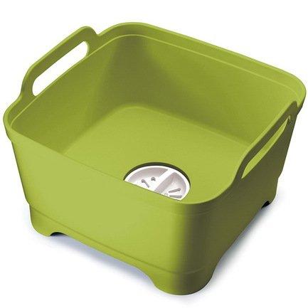 Контейнер для мытья посуды Wash&Drain, 31х20х30 см, зеленый 85059 Joseph &