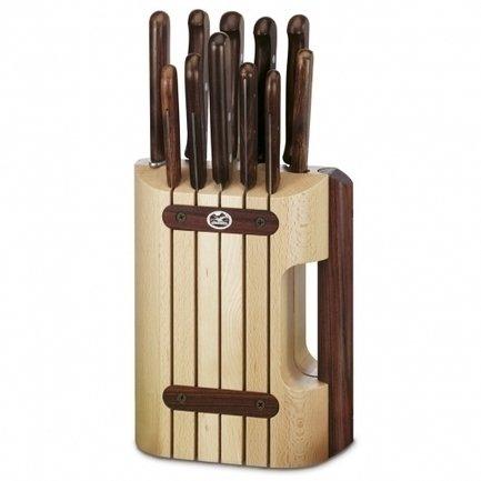 Victorinox Набор кухонных ножей Victorinox, 11 пр., в деревянной подставке набор кухонных ножей vine jiro