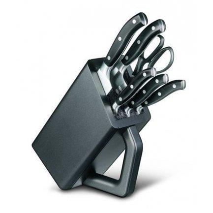 Victorinox Набор кухонных ножей, 6 пр., черный, в деревянной подставке набор кухонных ножей asd wg901606