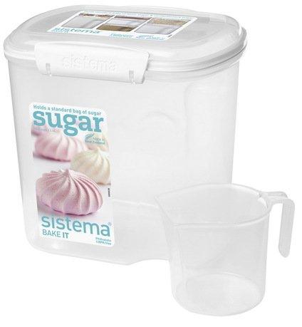 купить Sistema Контейнер Bake-it (2.4 л), с чашкой, 17.6х13.2х17.5 см, белый 1240 Sistema по цене 800 рублей