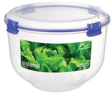 купить Sistema Контейнер для капусты Klip-it (3.5 л), 22х15 см, синий 1490 Sistema по цене 1000 рублей