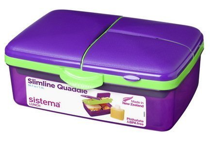 Sistema Ланч-бокс 4-х секционный Lunch (1.5 л) с бутылкой, 23х16.2х9.6 см 3965 Sistema