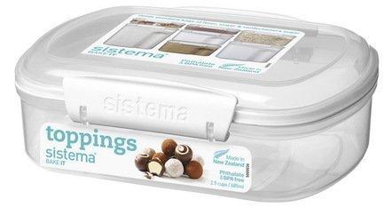 купить Sistema Контейнер прямоугольный Bake-it (685 мл), 17.6х13.2х6 см, белый 1220 Sistema по цене 400 рублей