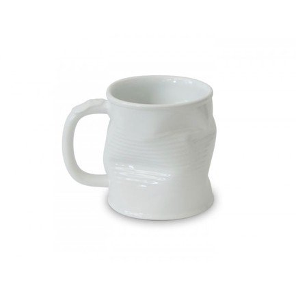 Ceraflame Мятая кружка керамическая 0.32л белая 080135G Ceraflame стакан ceraflame мятый 240мл керамика