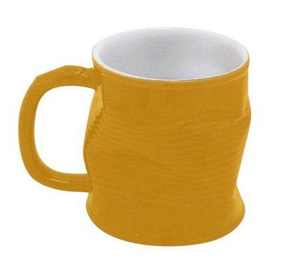 Ceraflame Мятая кружка керамическая 0.32л желтая 0801352G Ceraflame стакан ceraflame мятый 240мл керамика