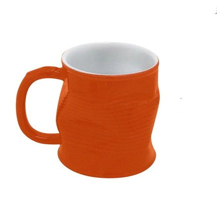 Ceraflame Мятая кружка керамическая 0.32л оранжевая 0801353G Ceraflame стакан ceraflame мятый 240мл керамика