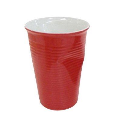 Ceraflame Мятый стаканчик керамический красный 0,24л 080710G Ceraflame стакан ceraflame мятый 240мл керамика