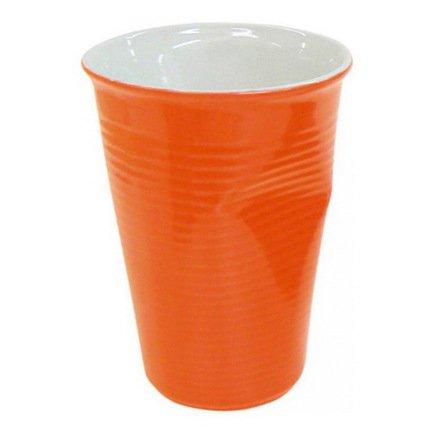 Ceraflame Мятый стаканчик керамический оранжевый 0,24л 080740G Ceraflame стакан ceraflame мятый 240мл керамика