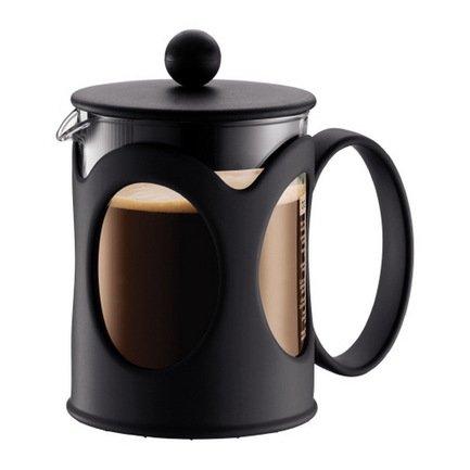 Bodum Кофейник с прессом Kenya (0.5 л), чёрный 10683-01 Bodum bodum кофейник с прессом caffettiera 0 35 л кремовый
