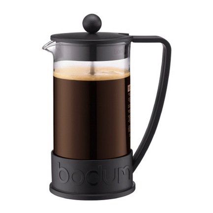 Bodum Кофейник с прессом Brazil (1 л), чёрный 10938-01 Bodum bodum кофейник с прессом chambord 0 35 л с медным покрытием