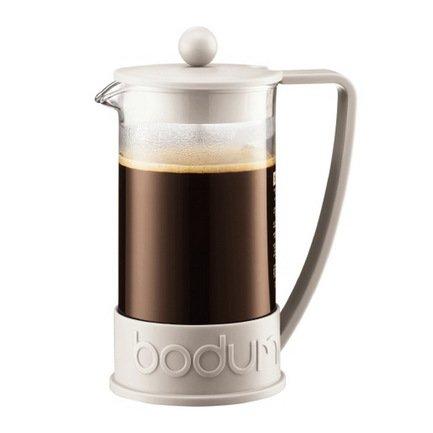 Bodum Кофейник с прессом Brazil (1 л), белый 10938-913 Bodum bodum кофейник с прессом caffettiera 0 35 л кремовый