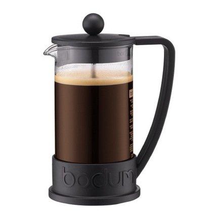 Bodum Кофейник с прессом Brazil (0.35 л), чёрный 10948-01 Bodum bodum кофейник с прессом chambord 0 35 л с медным покрытием