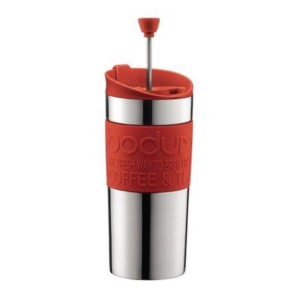 Bodum Кофейник дорожный Travel (0.35 л), 18.3х8.2х8.2 см, красный