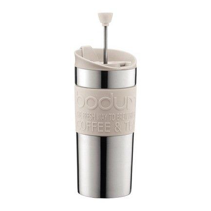 Bodum Кофейник с прессом Travel (0.35 л), белый 11067-913 Bodum bodum кофейник с прессом chambord 0 35 л с медным покрытием